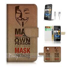 ( For HTC Desire 310 ) Case Cover! V for Vendetta Mask P0107