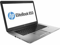 "HP Elitebook 850 G1 i5 4300u 1.90Ghz 8Gb Ram 320Gb HDD 15.6"" HD  Win 10 Pro"