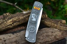 POW MIA Vietnam War Veterans Commemorative Lockback Pocket Knife - Spring Assist