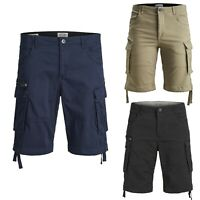 Jack & Jones Mens Chino Cargo Shorts Casual Half Pants King Big Size 44 to 54
