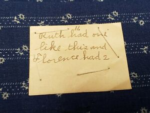 BEST Vintage Cotton Quilt Fabric Scraps c1890s w Provenance Calico Blue Indigo