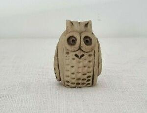 CUTE Vintage MCM Pottery Owl Ornament