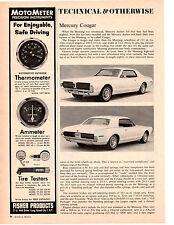 1967 MERCURY COUGAR ~ ORIGINAL 2-PAGE TECHNICAL ARTICLE / AD