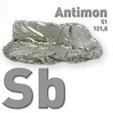 Antimon Metall - Antimony metal 51 Sb - 100 Gramm - Pure Element Sample - 99,65%