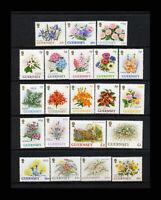 Guernsey, Sc #476-96, MNH, 1992, Flowers, Flora, plants, AFHD-A