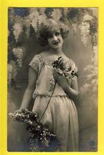 cpa Cachet GENT GAND en 1925 Fantaisie JEUNE FEMME à Louise SACCASIJN