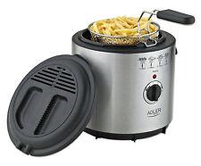 Edelstahl Friteuse 1,5 Liter Mini Fritöse Fritteuse Thermostat 1000 Watt NEU