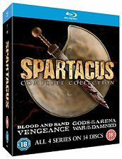 SPARTACUS BLOOD & SAND GODS OF THE ARENA VENGEANCE WAR OF THE DAMNED Blu Ray RB