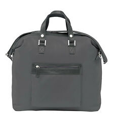 Giorgio Armani Mens Synthetic Leather Overnight Weekend Travel Holdall Bag Grey
