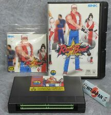 REAL BOUT FATAL FURY SPECIAL NEO GEO AES GOOD SNK Ref 3034 FREE SHIPPING