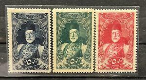 Turkey Ottoman 1917 Sultan Resad Portrait Postage Stamps SET SG #768/770