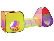 Kinder Spielzelt IGLO Tunnel Würfelzelt 3Teile PopUp 280x83x100cm 200 Bälle 2880