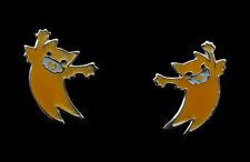 Boucle d oreille Clou Chat Japonais Maneki neko en Argent 925 -Jaune- 21 - K63