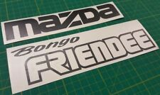 Mazda Bongo Friendee tailgate decals stickers graphics Full Time 4WD any colour