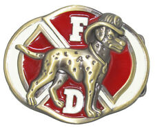 Fire Dept. Department Dalmation Dog Crest Belt Buckle