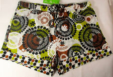 Vera Bradley P J Casual Lounge Sleep Shorts Medium Cocoa Moss 13028-143m