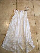 Beautiful White Roxy High Low Strapless Beaded Dress Nwt