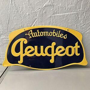 Metal sign peugeot french car vintage 2210202