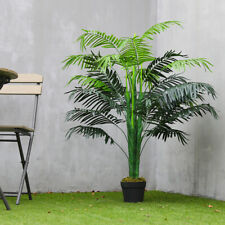 130cm Artificial Potted Palm Tree Outdoor Garden Green Plant Home Office Decor