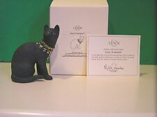 LENOX CHAT D'ARGENT jeweled Black CAT Sculpture NEW in BOX with COA Kitten
