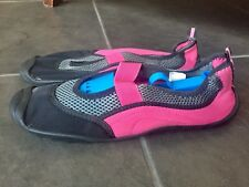 Women's Aqua Sock Pink Water Shoe slip-on slides sz L (9-10) Target