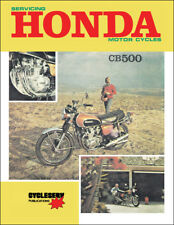 Honda CB500 Shop Manual 1971 1972 1973 CB 500 Cycleserve Motorcycle Service Book