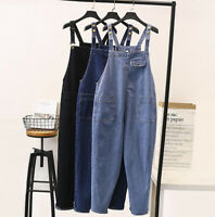 Womens Plus Size Jumpsuit Denim Overalls Jeans Casual Rompers Pants New Trouser