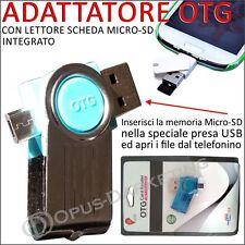 ADATTATORE OTG LETTORE USB SCHEDA MICRO SD HC PER Samsung Galaxy A5 2 2016
