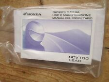 HONDA SCV 100 LEAD OWNERS MANUAL / PART BUYERS PACK PRINTED 2003