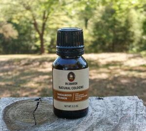 Dr. Squatch Cologne Sandalwood Bourbon Natural .5 fl oz - Free Shipping