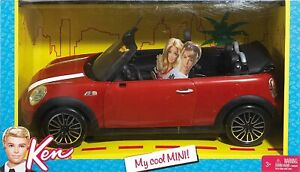 Barbie Ken's My Cool Mini Cooper Convertible Red Vehicle Car Doll Unique