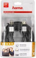 Hama CAT 6 LAN Netzwerk DSL Kabel Netzwerkkabel STP 5 Meter abwärtskompatibel 5