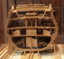 USS Bonhomme Richard Full Rib Cross Section Inside Structure Upgrade- Pear wood
