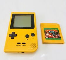 Nintendo Gameboy Pocket Yellow Handheld Console GBP Game Boy Plus Donkey Kong