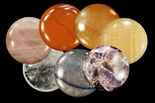 Chakra Crystal Massage Palm Stone Set of 7 Stones Polished Rock Specimen Healing