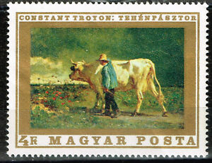 Hungary Fauna Farm Animals Cow stamp 1972 MLH A-14