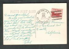1952 photo post card transport ship USS President Jackson APA 18 to Rialto CA