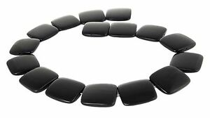 Black Horn Beads Size Flat Squares 25 MM Bone Beads Natural Beads
