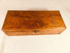 Vintage Antique Flemish Art  #682 Wooden Chest - 12 1/2 x 5 x 3 1/4 Inches