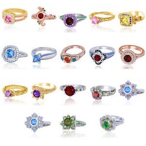 Simulated Diamond Engagement Wedding Band Ring