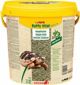 Sera Raffy Vital Naturel 10L - Litres Aliment Végétal Pour Landschildkröten