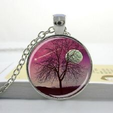 PINK HARVEST MOON TREE OF LIFE PENDANT NECKLACE Jewellery Gift Idea Boho Hippie