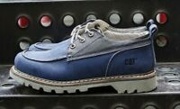 NEW CAT Caterpillar Men's LINEAGE LOW CANVAS SHOE, BLUE/GRAY, 9-MED - FREE SHIP