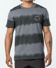 RIP CURL MENS T SHIRT.NEW ACIDOULOUS STRIPE TIE DYE GREY COTTON ROCK TEE TOP S20