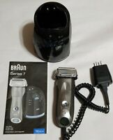 Braun Series 7 Electric Foil Shaver w/Clean & Charge Station 5692 Used Works