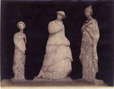 Palerme Tanagra Sculpture grecque Grèce Italie Photographie Vintage Albumine