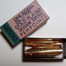 6 Vintage SENGBUSCH NO.17 Fine GOLD PLATED Fountain Pen Points(Nibs) Iridium Tip