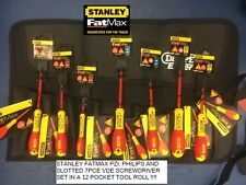 Stanley FatMax VDE Insulated Phillips, Pozi and Slot Screwdriver Set of 7