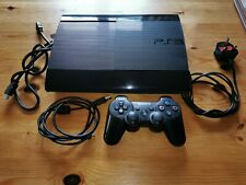 Sony Playstation 3 PS3 Super Slim 500GB Black CECH-4203C Inc Dualshock 3 Pad