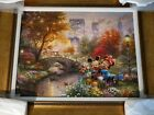 Thomas Kinkade Painting (Mickey & Minnie ) Giclee in color on Canvas Signed/#
